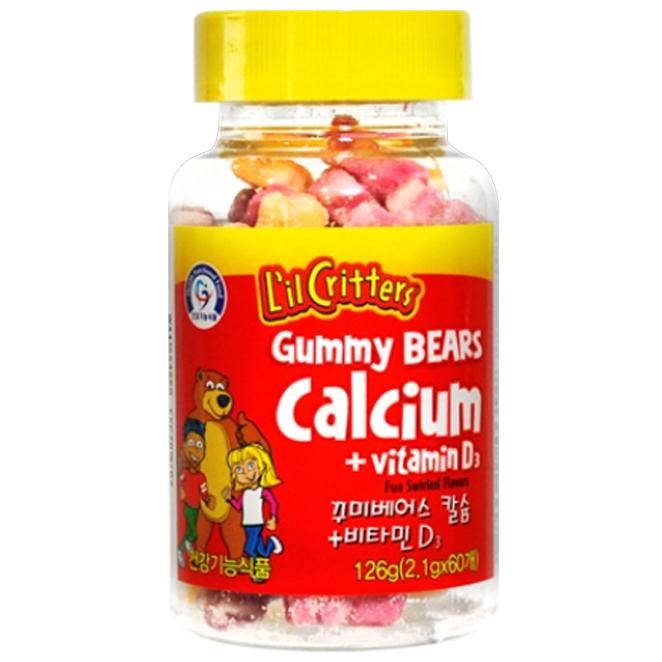 릴크리터스 꾸미 베어스 칼슘  비타민D3 어린이 건강식품 126g 1개