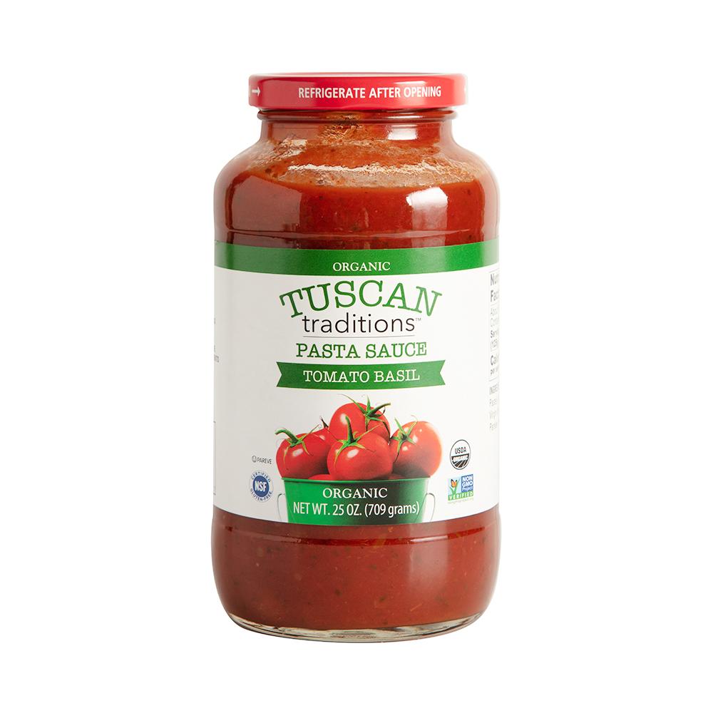 지오바니 유기농 토마토 바질 파스타 소스, 709g, 1개