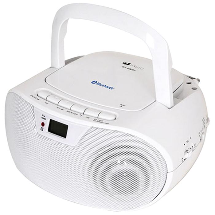 인비오 블루투스 포터블 CD 플레이어, CD-600BT, 화이트