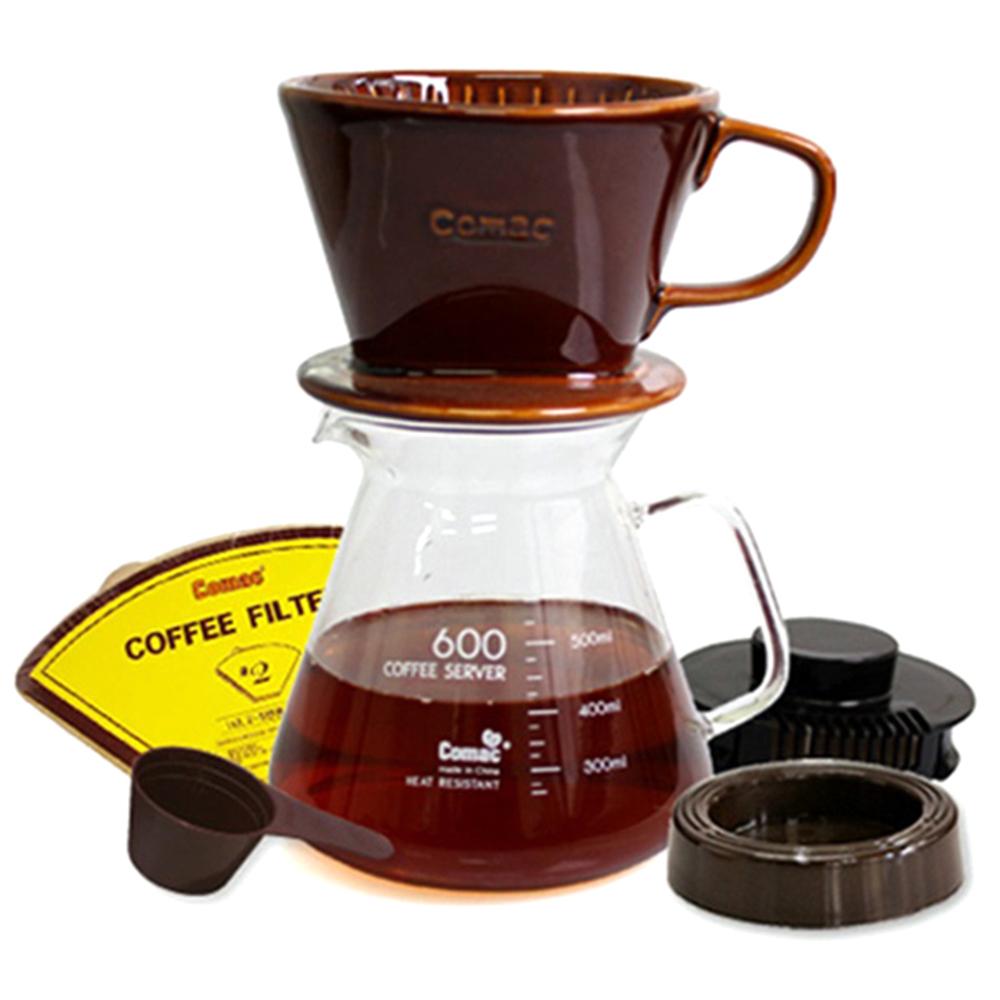 코맥 자기 커피드립세트 DN4 600ml, 혼합 색상, 1세트