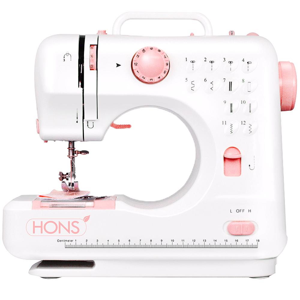 혼스 한땀한땀 프로 미니재봉틀, HSSM-1201, 핑크