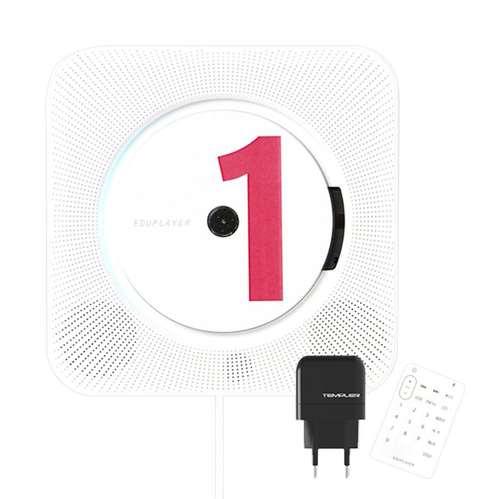 에듀플레이어 에듀스핀 벽걸이 오디오 EA10, White