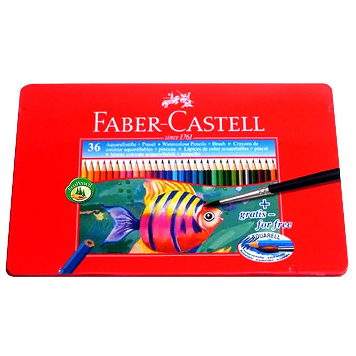 파버카스텔 수채 틴케이스 색연필, 36색