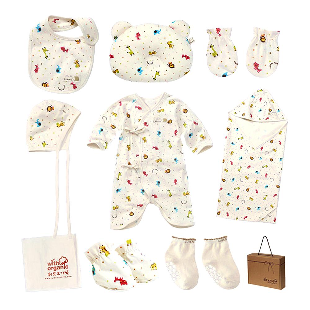 위드오가닉 신생아용 미니주주 출산선물 10종