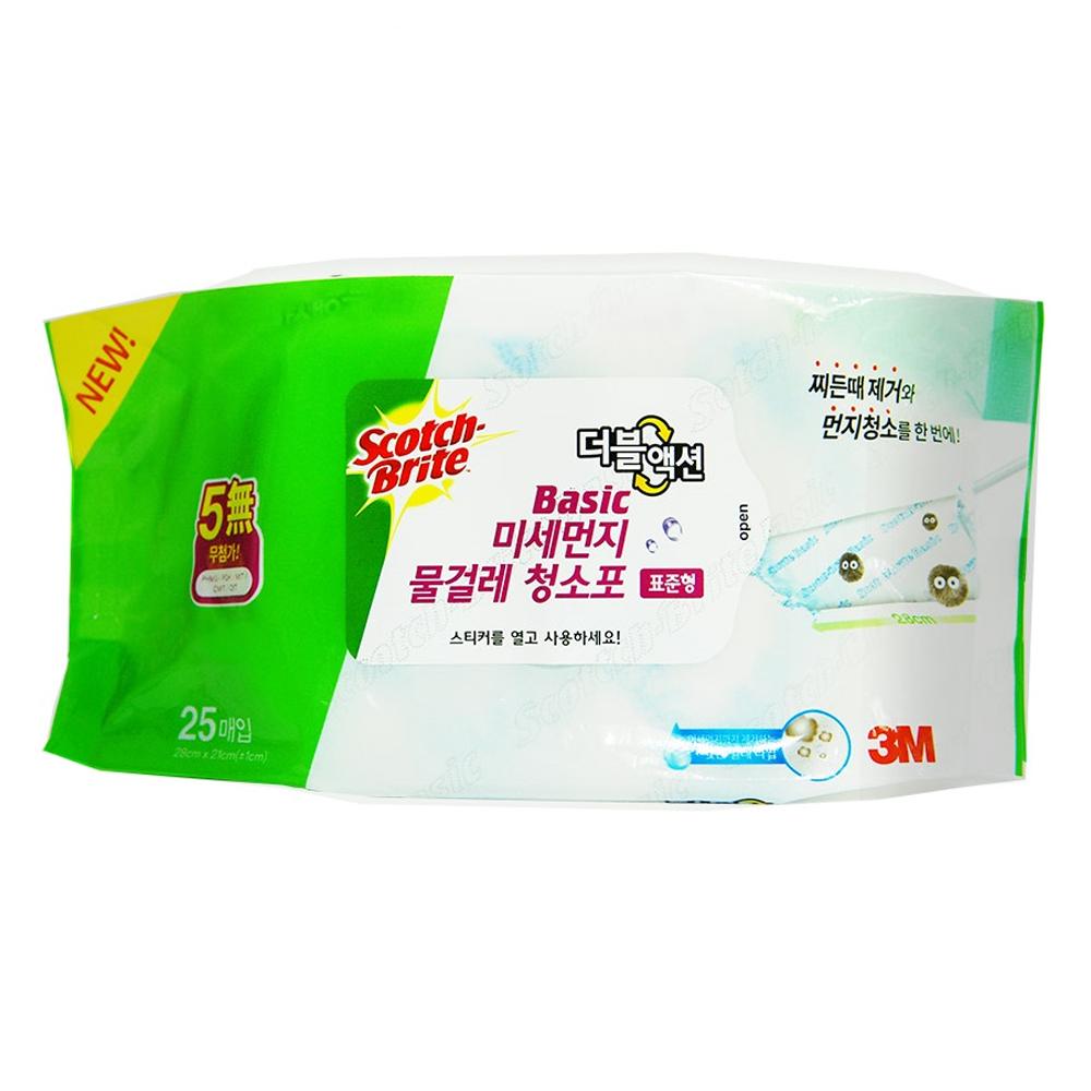 스카치브라이트 베이직 미세먼지 물걸레 청소포 더블액션 표준형 25p, 1개