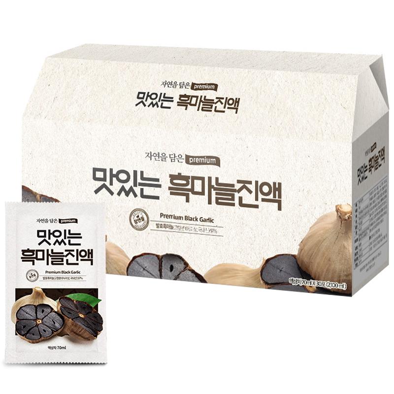 황토농원 맛있는 흑마늘진액, 70ml, 30개입