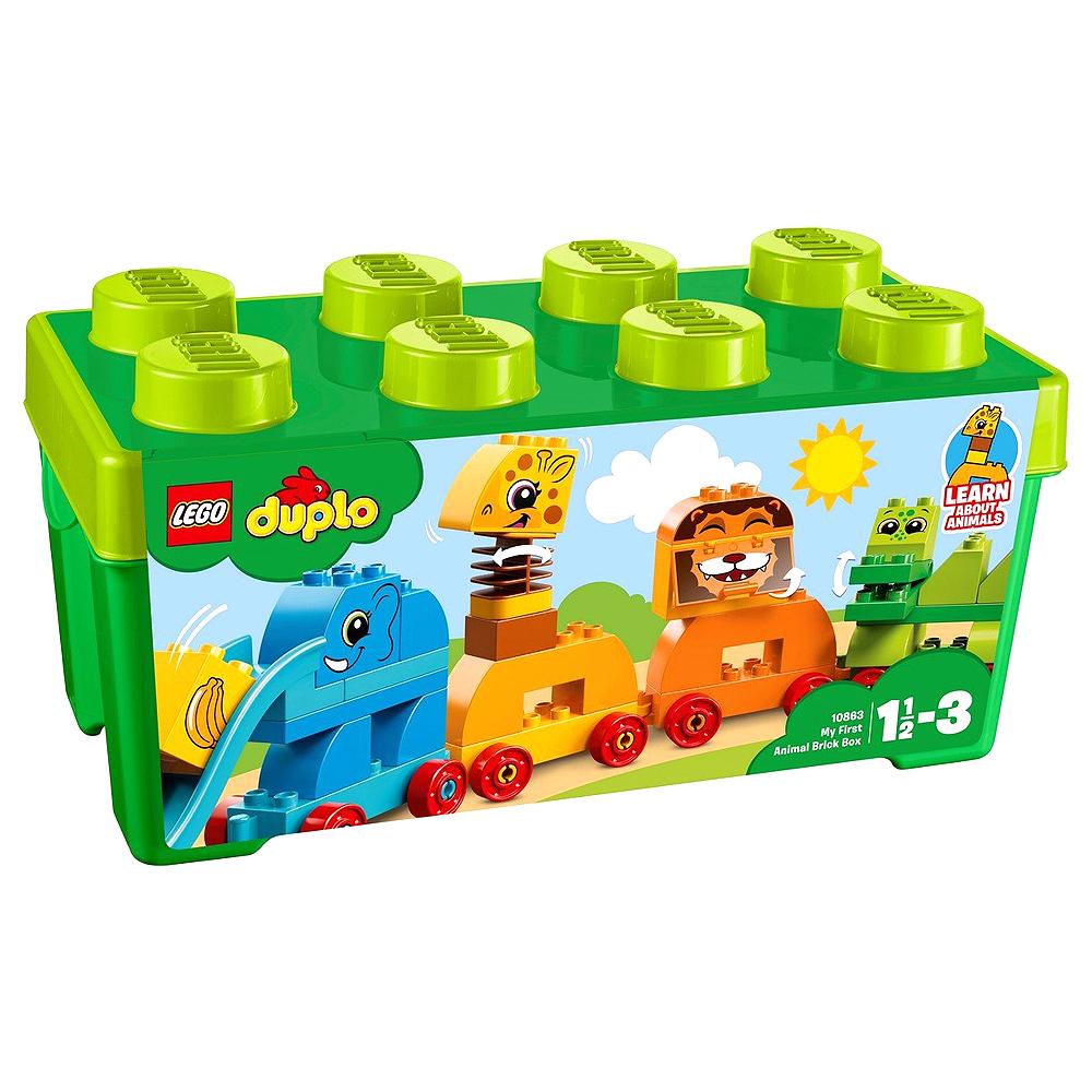 레고듀플로 10863 동물기차 브릭 박스, 혼합 색상