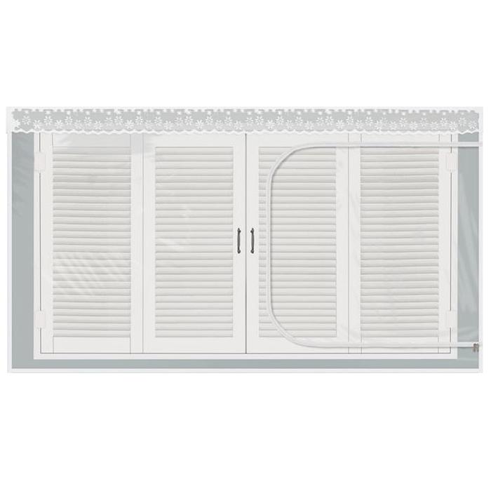 다샵 창문용 지퍼식 EVA 방풍비닐, 투명
