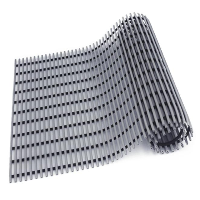 월광 고급형 미끄럼 방지 매트 60 x 100 cm, 회색, 1개