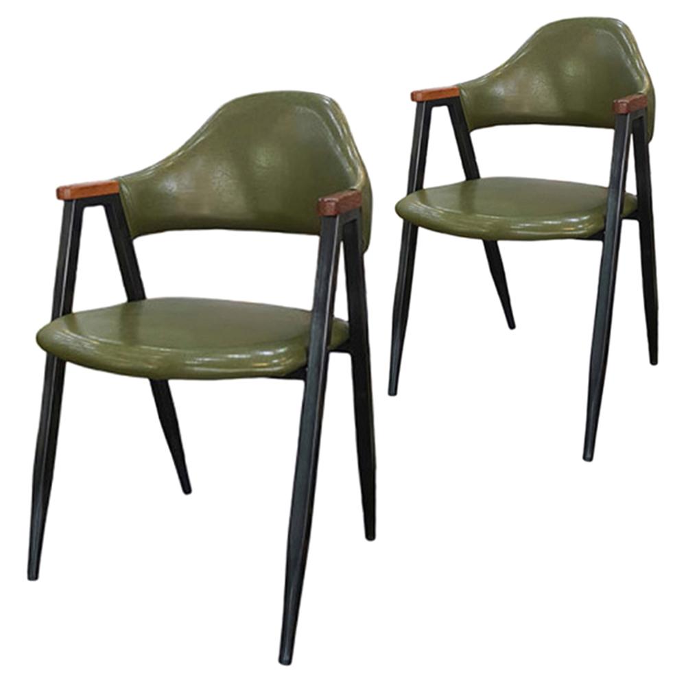 오피스퍼니처 비올렛 우드 인테리어의자 2p, 카키