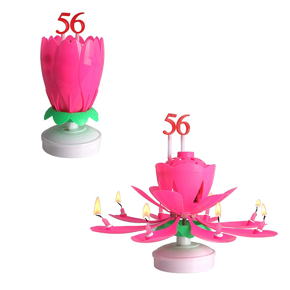파티라이프 파티 용품 숫자 연꽃초 + 숫자세트 2p, 핑크, 2세트
