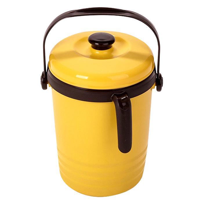 하이브라이트 물빠짐형 음식물 쓰레기통 2L, 옐로우