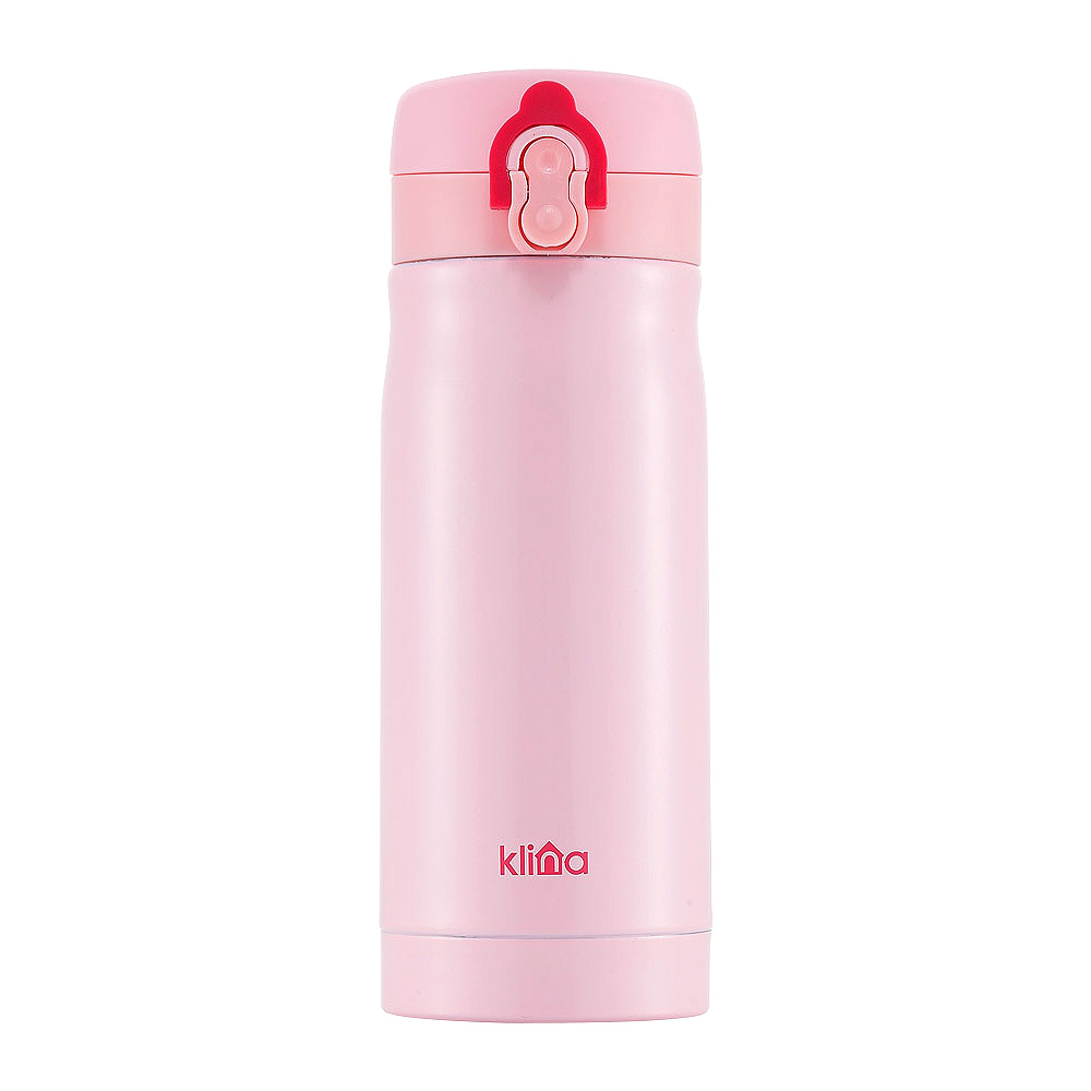 클리나 원터치 보온보냉 텀블러, 핑크, 350ml