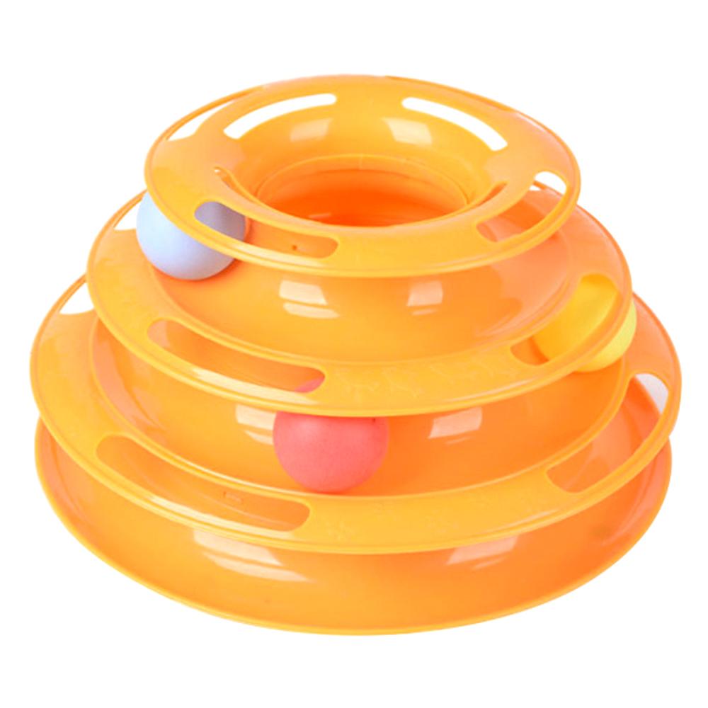 쩐이 디스크볼 고양이 장난감, 오렌지, 1개