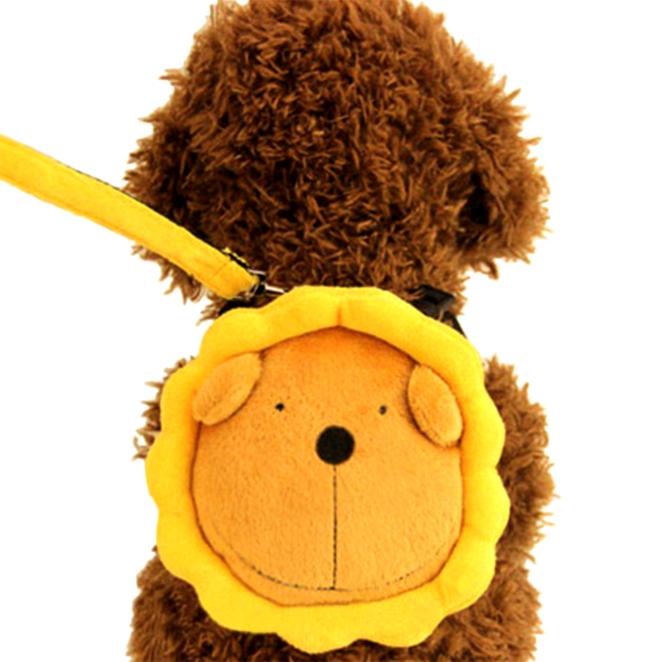 도그아이 햇님사자 강아지가방 S, 노랑, 1개