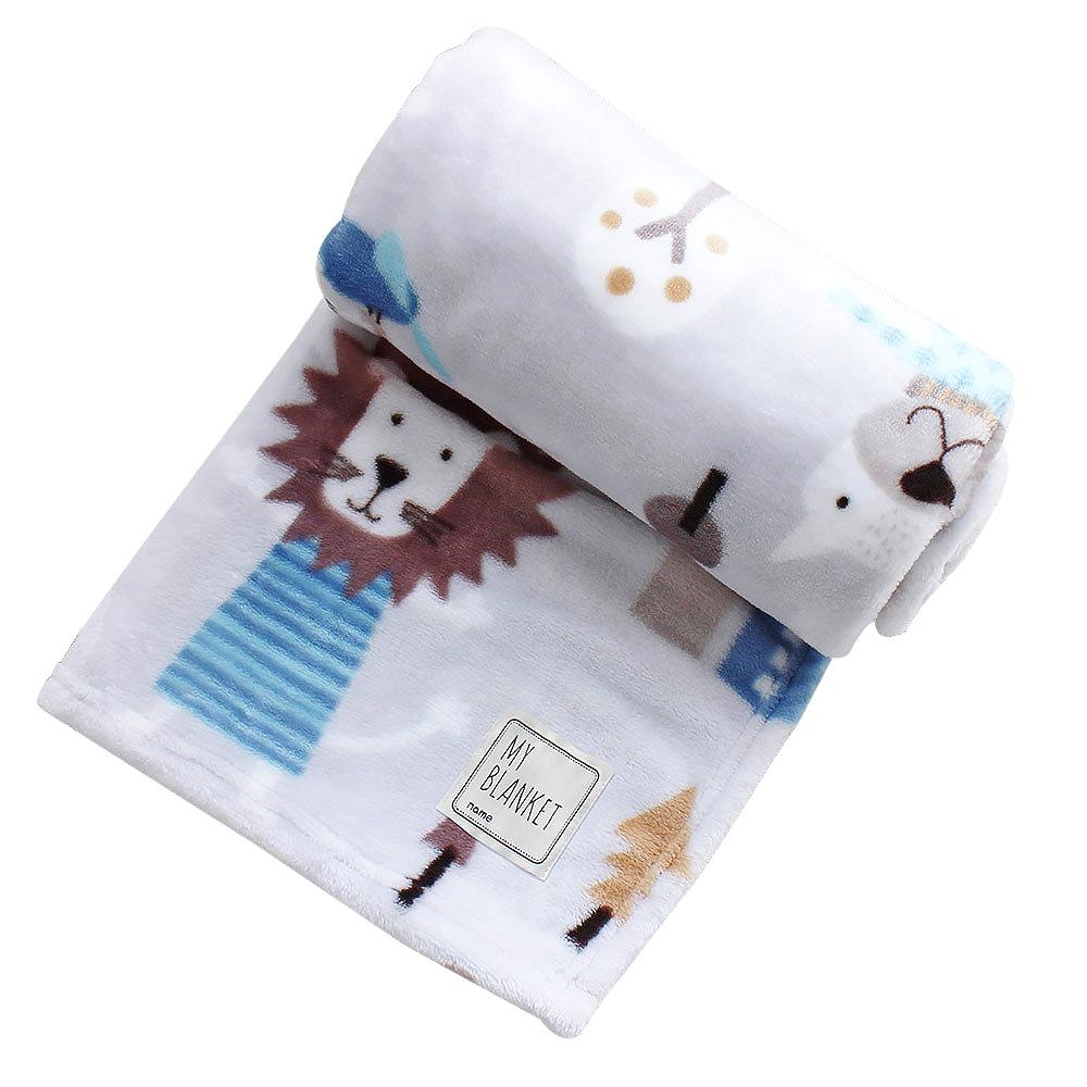 아이자리 유아용 밍크 극세사 담요 소형 (100 x 75cm), 쥬쥬나나