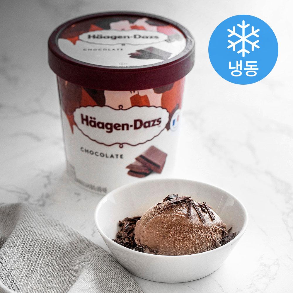 하겐다즈 파인트 초콜릿 (냉동), 473ml, 1개