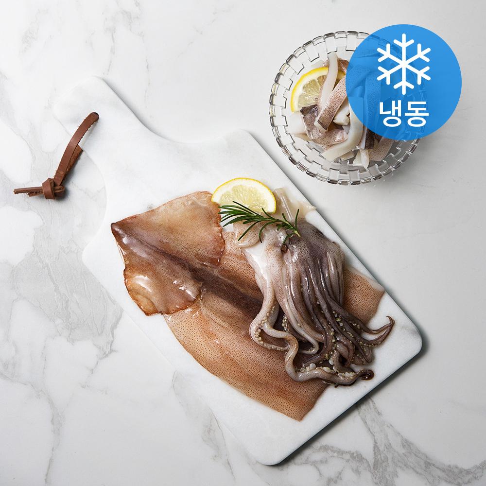 국산 냉동 손질 오징어 (냉동), 600g, 1개