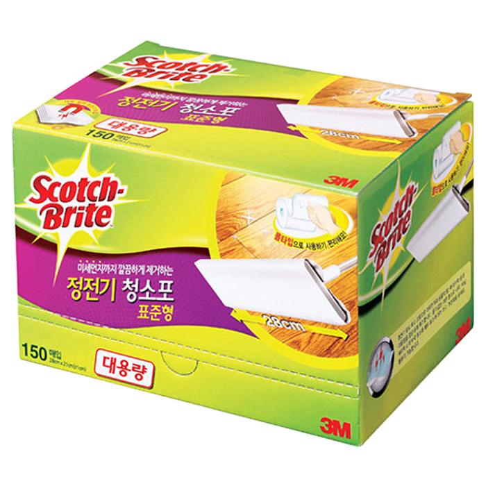 스카치브라이트 정전기 청소포 표준형, 150매입