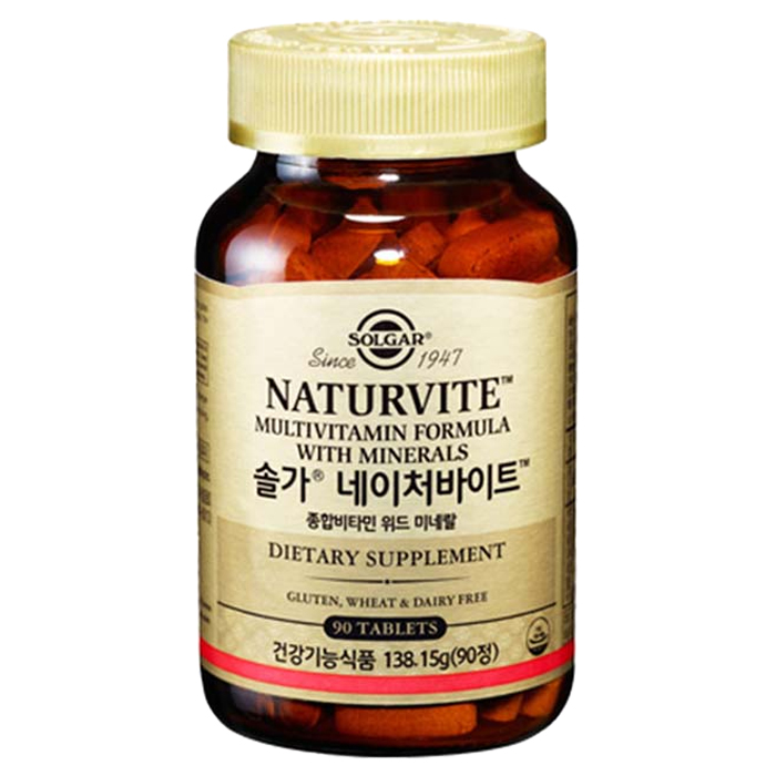 솔가 네이처바이트 종합비타민 위드 미네랄, 90정, 1개