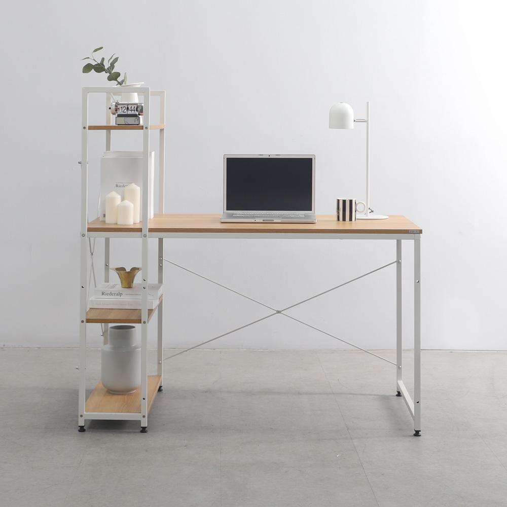 소프시스 위더스 컴퓨터 책상 1260, 화이트 프레임