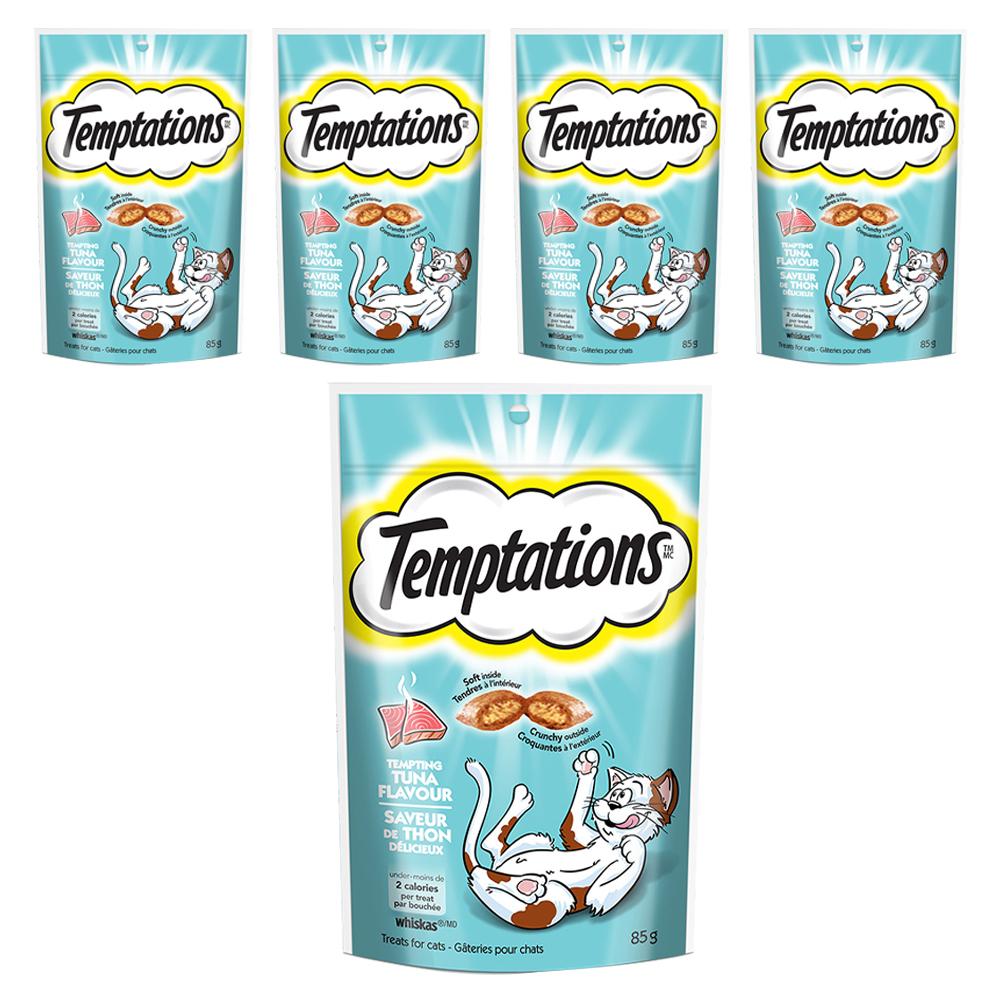 템테이션 고양이 간식 닭, 고소한 참치맛, 5개