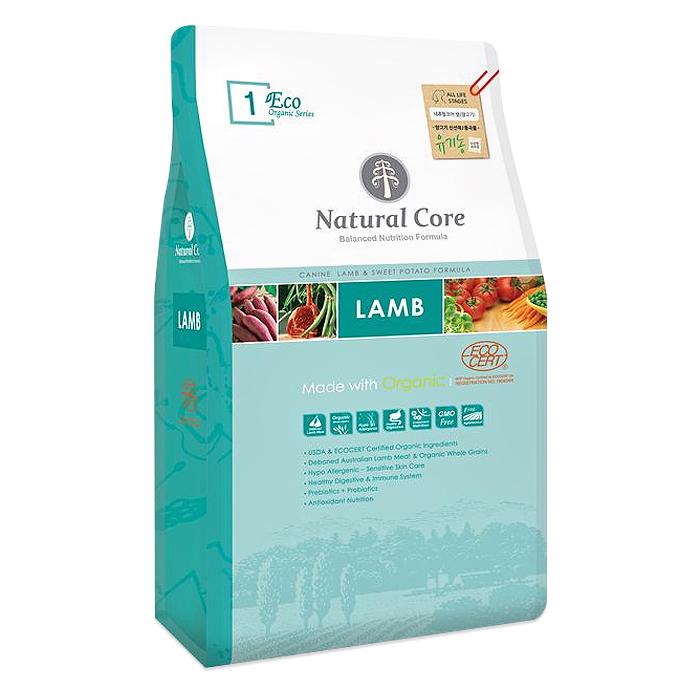 네츄럴코어 에코1 유기농 양고기 애견사료, 9kg, 양