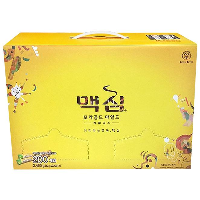맥심 모카골드 마일드 커피믹스 선물세트, 12g x 200개입, 1세트