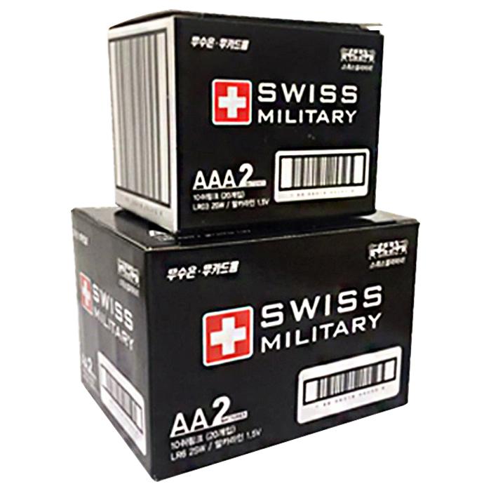스위스밀리터리 AA 20p + AAA 20p 건전지 세트, 1세트