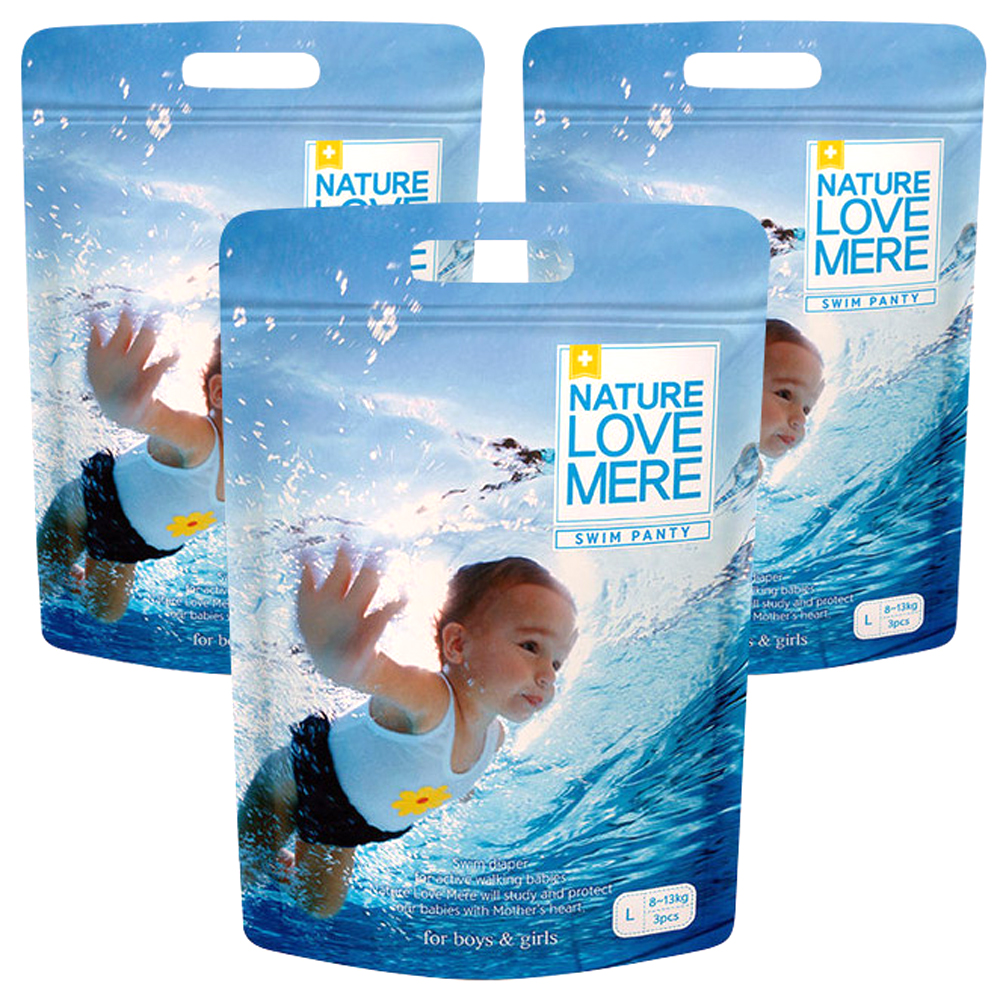네이쳐러브메레 팬티형 수영장기저귀 아동공용 대형 (8~13kg), 9매