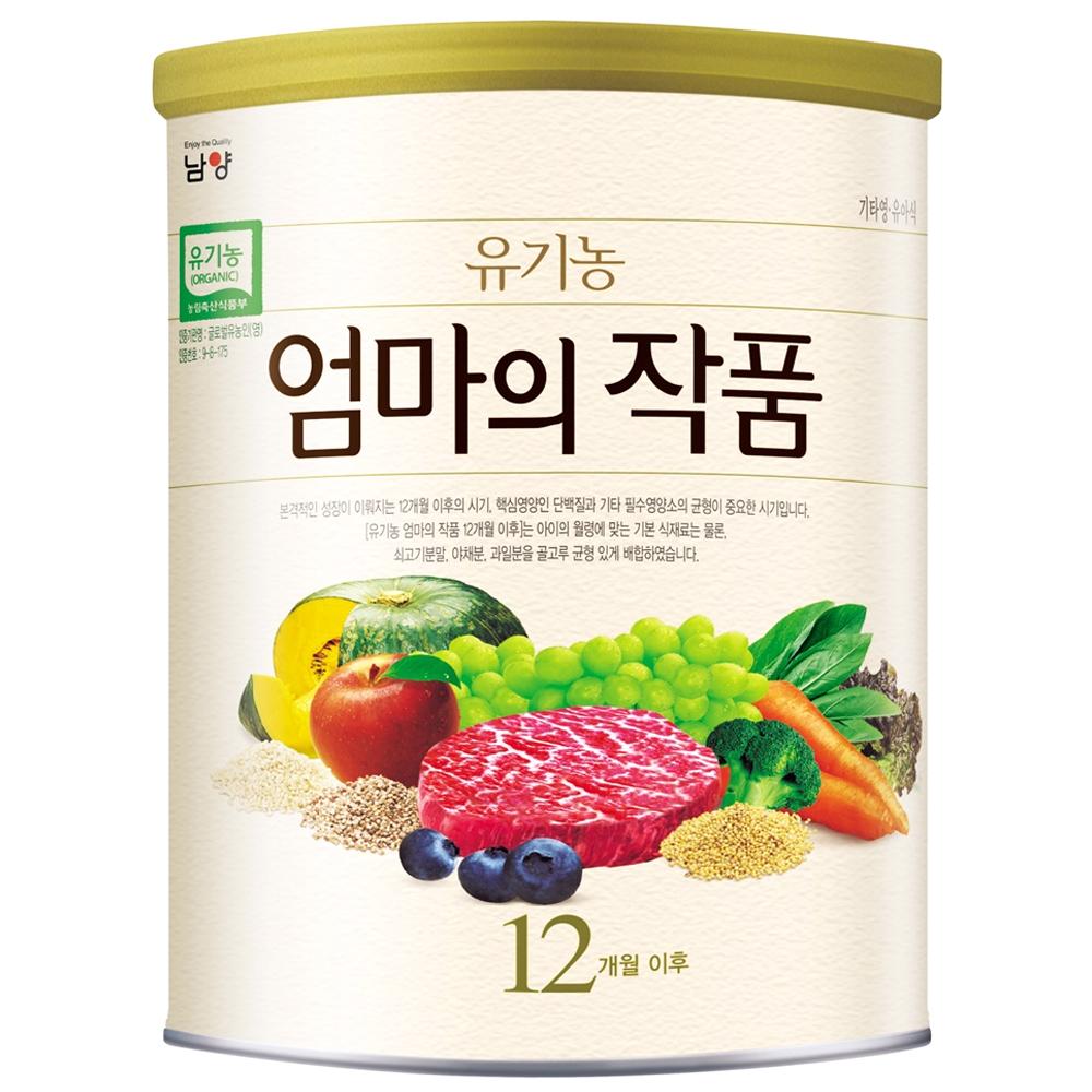 남양유업 명품 유기농 엄마의 작품 이유식, 유기농현미, 1캔
