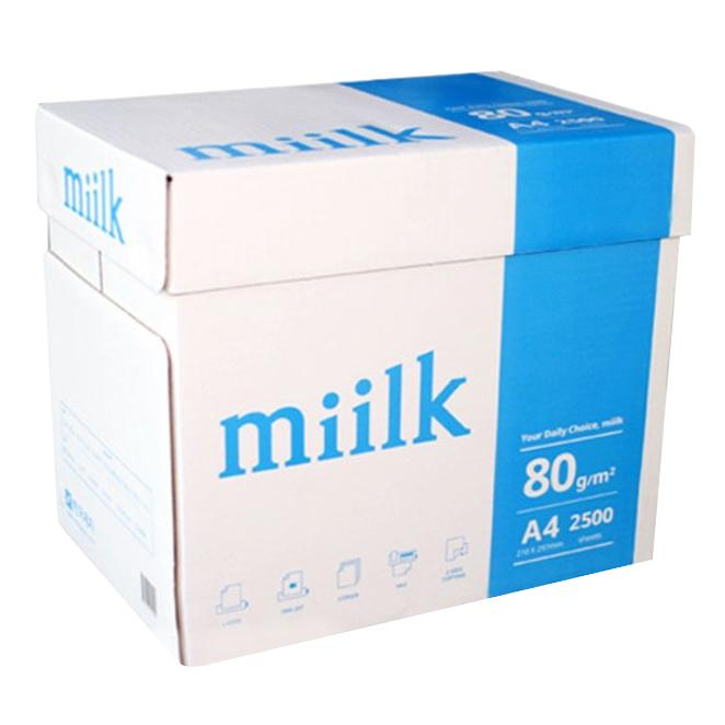 한국제지 밀크 복사용지 80g, 2500매, A4