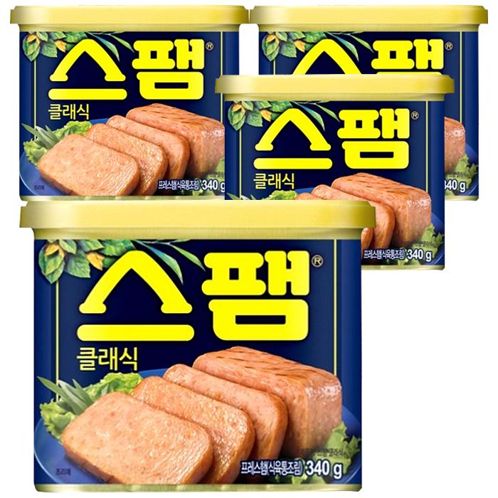 CJ제일제당 스팸 클래식 340g 4개