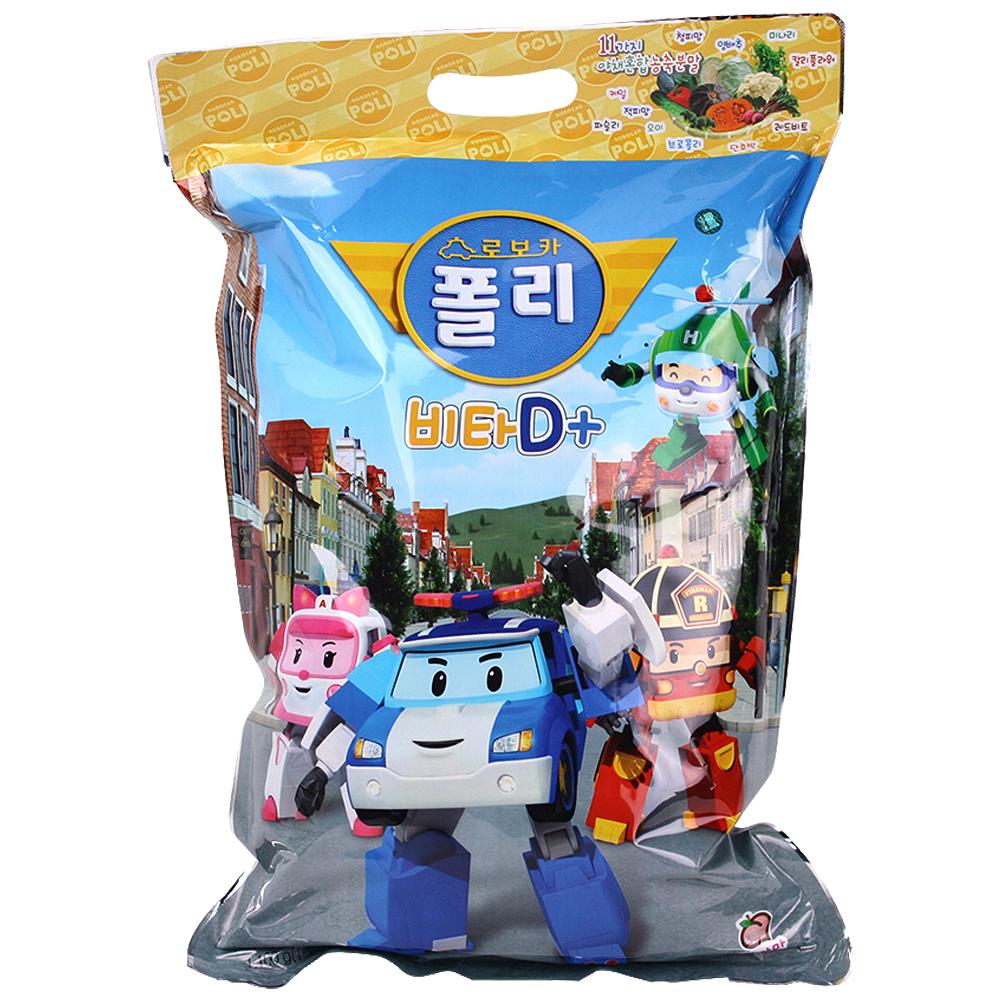 [키즈 비타민] 로보카폴리 비타 D 플러스 복숭아맛 캔디, 1.1g, 1000개입 - 랭킹3위 (17500원)