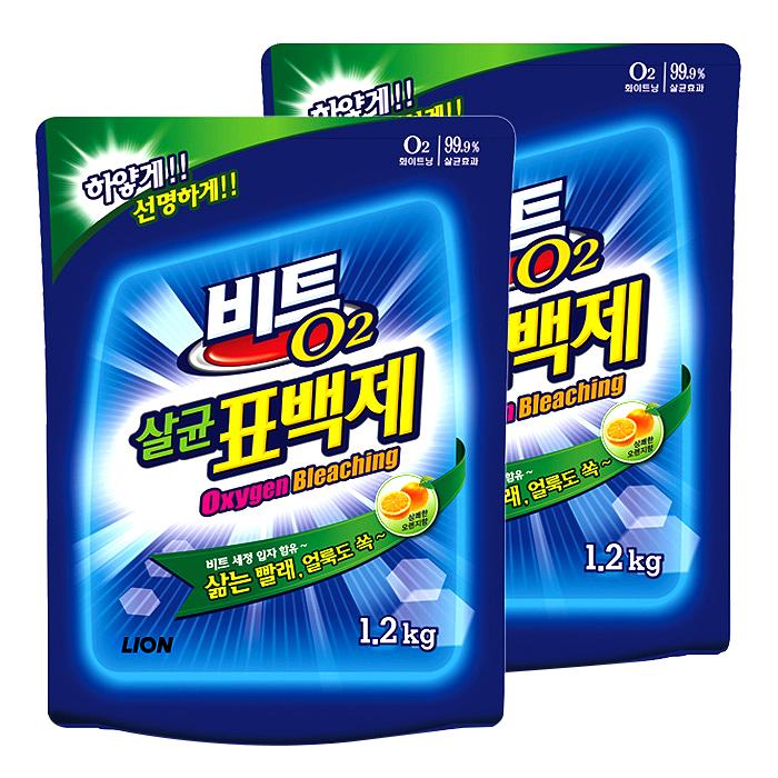 비트 O2 살균 표백제, 1.2kg, 2개