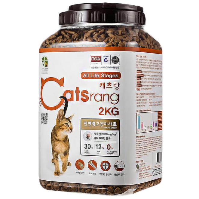 캐츠랑 전연령 고양이 사료, 2kg, 1개