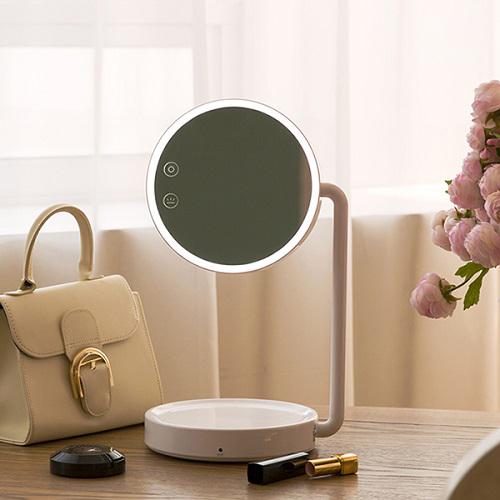 오아 블링 LED 화장 스탠드 거울 OA-BU150, 핑크