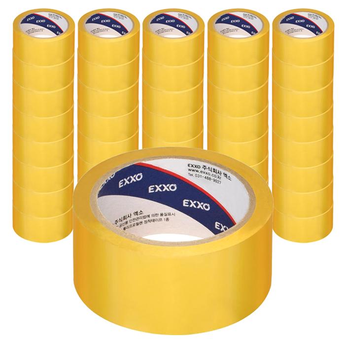 엑소 OPP 점착 박스 테이프 48 mm x 40 m, 투명, 50개
