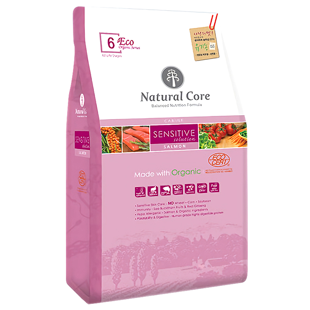 네츄럴코어 ECO6 유기농 센시티브솔루션 연어 중간입자, 고구마, 5.2kg
