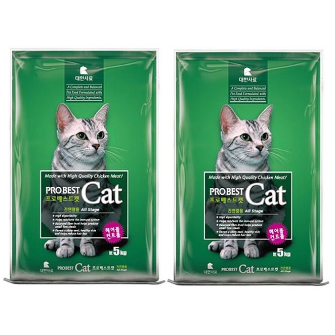 프로베스트 캣 전연령 고양이 사료, 5kg, 2개