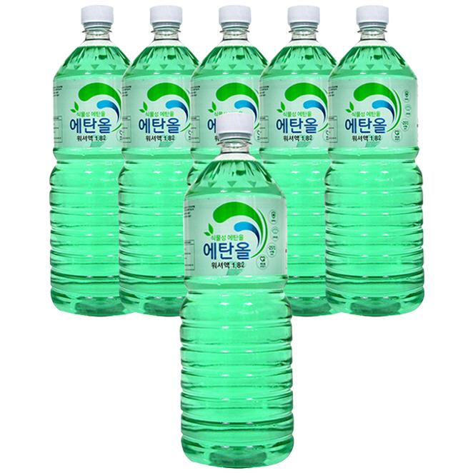 샤인 식물성 에탄올 워셔액, 1.8L, 6개입