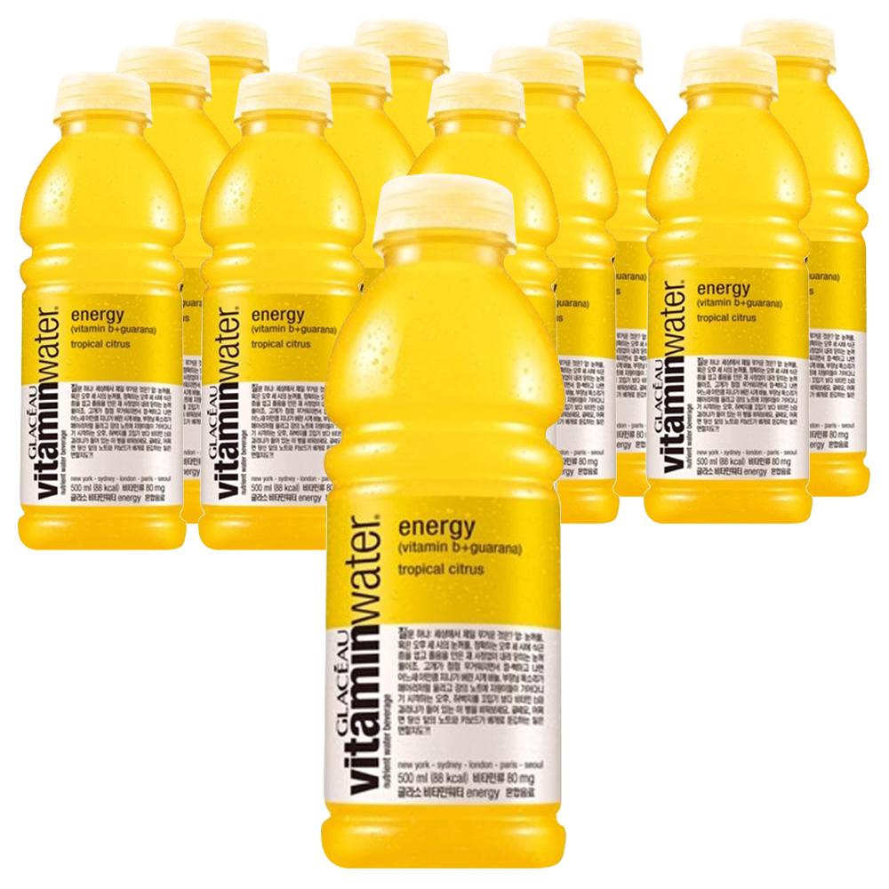 글라소 비타민워터 에너지 500ml, 12개