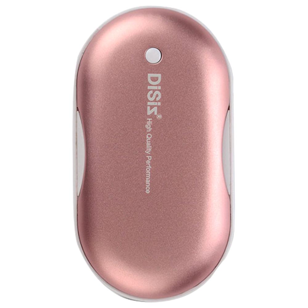 디씨즈 휴대용 보조배터리겸용 충전식 손난로 DISIZ HW-100, 로즈 핑크