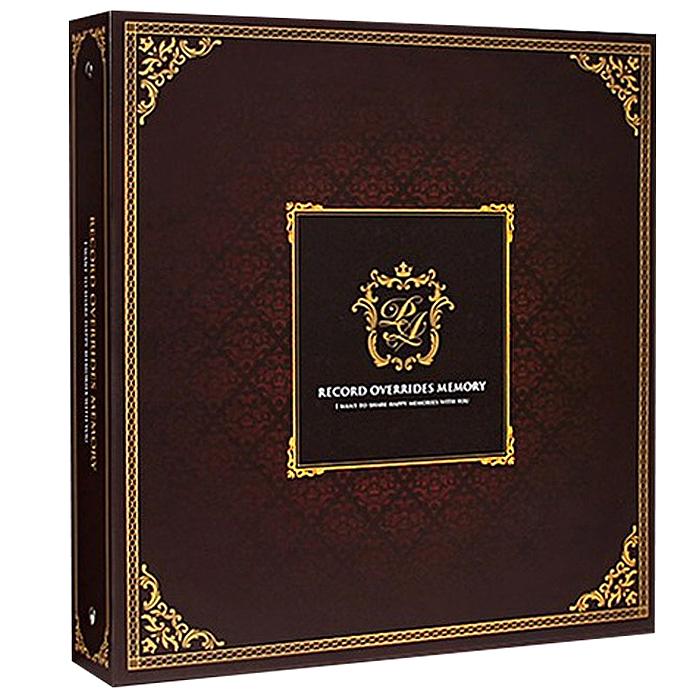 앨범샵 대형바인더 클래식 사진앨범, 브라운(접착식 흰색내지), 50매