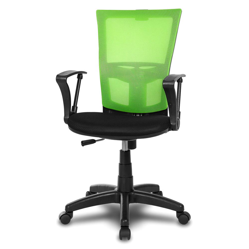 체어클럽 M1 기본형 블랙바디 메쉬 의자, 그린