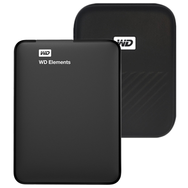 WD Elements Portable 휴대용 외장하드 + 파우치, 1TB, 블랙