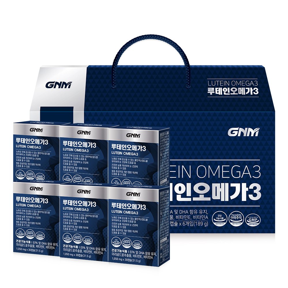 GNM자연의품격 루테인 오메가3 선물세트, 180정, 1세트