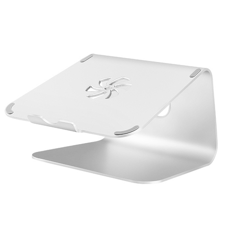플럭스 프리미엄 알루미늄 노트북 눈높이 거치 스탠드 받침대, 알루미늄 실버 그레이