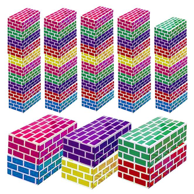 아하토이 종이벽돌블럭 중형, 혼합색상, 55개