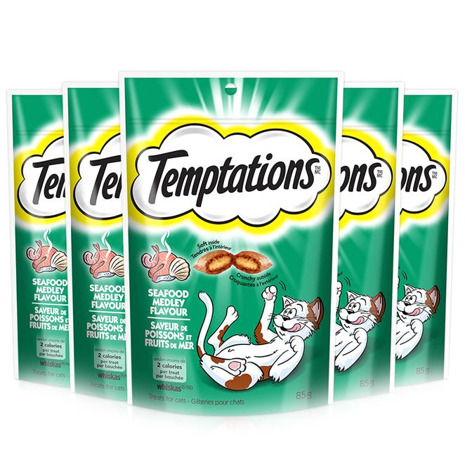 템테이션 고양이 간식 닭, 풍부한 해산물맛, 5개